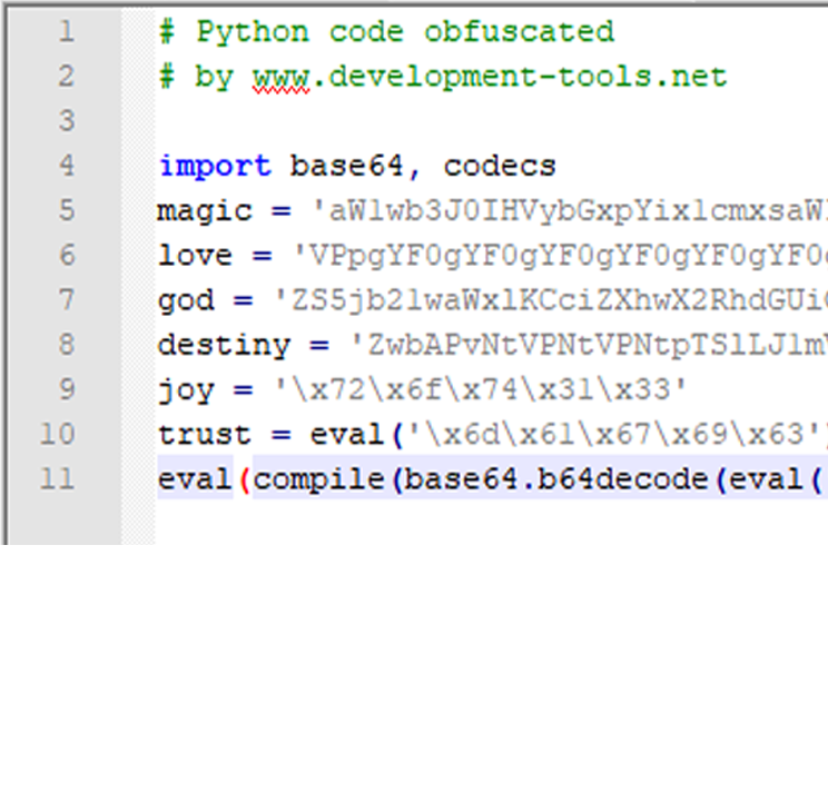 Obfuscated python code